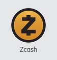 zcash - icon of virtual currency vector image vector image
