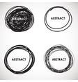 Grunge circle brush strokes set design vector image