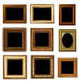 set retro frame vector image