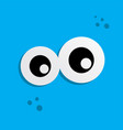 cute adorable ugly scary funny mascot monster eye vector image