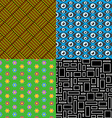 Seamless patterns Set 7 Abstract colorful vector image