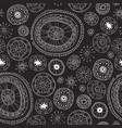black lace yoga mandala floral pattern vector image