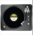 retro vintage vinyl player vector image