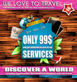 Scrapbook composition for travel or real estate vector image