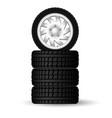 a stack new four winter tires with rims vector image vector image