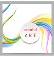 Abstract colorful waves and blank circle on top vector image