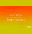 abstract low poly background red yellow green vector image vector image