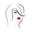 beautiful woman face logo vector image vector image