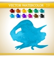 Blue Watercolor Artistic Splash for Design and vector image vector image