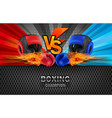 boxing blue and red fighting board background vector image vector image