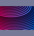 bright blue purple neon wavy lines abstract vector image vector image