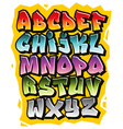 cartoon comic doodle font alphabet vector image vector image