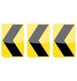 Chevron Alignment Signs vector image