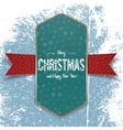 Christmas green Banner Template with white Ribbon vector image vector image