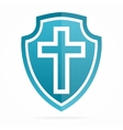 church cross logo vector image