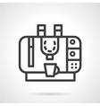 Coffee machine simple line icon vector image vector image