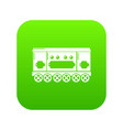 compartment carriage icon green vector image vector image