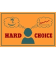 Concept of life and work balance vector image vector image