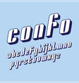 condensed original bold display font design vector image vector image