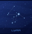 constellation lyra lyre night star sky vector image vector image