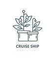 cruise ship line icon linear concept vector image vector image