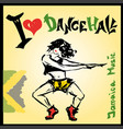 dancer dancehall style hand drawing vector image vector image