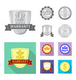 design of emblem and badge logo set of vector image