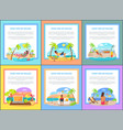 distant work and freelance promotional posters set vector image vector image