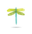 Dragonfly abstract isolated vector image