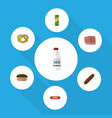 flat icon food set of beef bottle kielbasa and vector image vector image