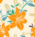 floral seamless pattern5 vector image vector image