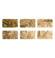gold rubber stamp luxury golden vintage border vector image