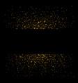 gold sparkle background black frame golden light vector image vector image