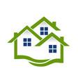 green house community symbol vector image vector image