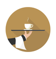 icon coffee on a tray vector image vector image