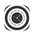 icon of simple clock vector image vector image
