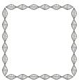 Isolated boho frame design vector image