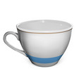 isolated white cup made with mesh vector image vector image