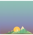 Low poly Mountains web banner vector image