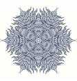 Mandala design or snowflake in dark blue vector image vector image