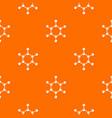 molecule pattern orange vector image vector image