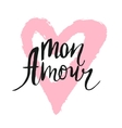 mon amour inscription greeting card