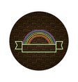 nature rainbow cartoon vector image