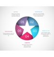 Origami star infographic vector image vector image