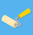 paint roller isometric vector image