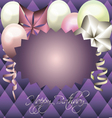 Purple card for invitation birthday card vector image