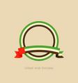 ribbon and circle with flag of united arab vector image