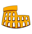 roman colosseum icon cartoon vector image vector image