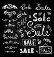 sale hand drawn lettering vector image vector image