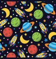 seamless adventure space pattern vector image